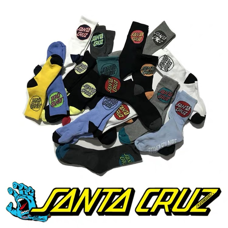 5pairs/Lot Towel Fabric Cotton Santa Cruz Sock Men Hip Hop Skateboard Calcetines Socks Compression Kanye West Popsocket Fashion