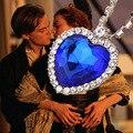 10 шт. серебряный темно-синий и красный сплава сердце океана ожерелье с кристалл Титаник сердце ожерелье