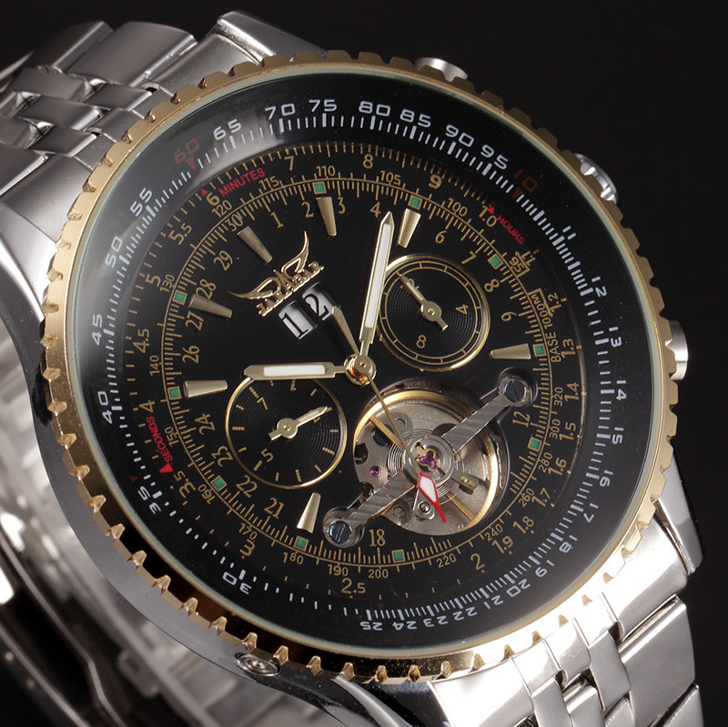 JARAGAR Big Dial Mens Watches Top Brand Luxury Automatic Self wind Relogios Masculino Military Watch Mechanical