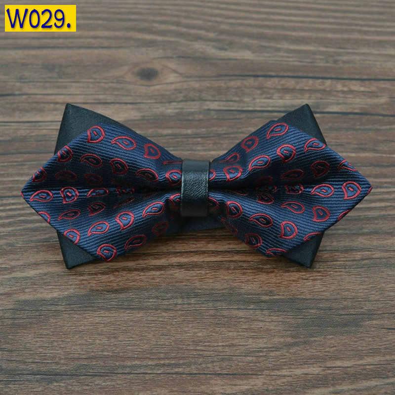pointed 12cm*6cm men tie bow ties 2020 Blue jacquard silk bowties luxury gravatas borboleta bulk lot Wholesale