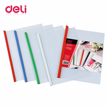 Deli 5pcs/pack A4 document Folder Office Supplies stationery School supplies Folder PP Storage Documents Paper report Clip charter school report card