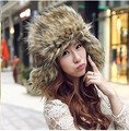 Wholesale - Autumn and winter warm super Plush cap Lei Feng Ms. male eared hats flax fox fur cap D476