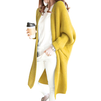2018 Female Long Cardigans Coat Loose Sweater Women Autumn Winter Casual Batwing Sleeve Plus Size Thick Warm Knit Jacket L955