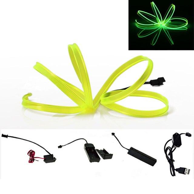 EL Wire LED Strip Lamp 1M 2M 3M 4M 5M Car Living Room Dance Party ...