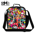 Dispalang Insulated cooler lunch bag for Children Patchwork lunch bag pattern for Teens lunch box bag for kids,thermal food bag