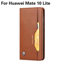 Wallet Credit Card Slot Flip Cover Leather Case For Huawei Mate 10 Lite ( Nova 2i ) Honor 9i Anti-knock Phone Cases goowiiz черный maimang 6 mate 10 lite honor 9i nova 2i