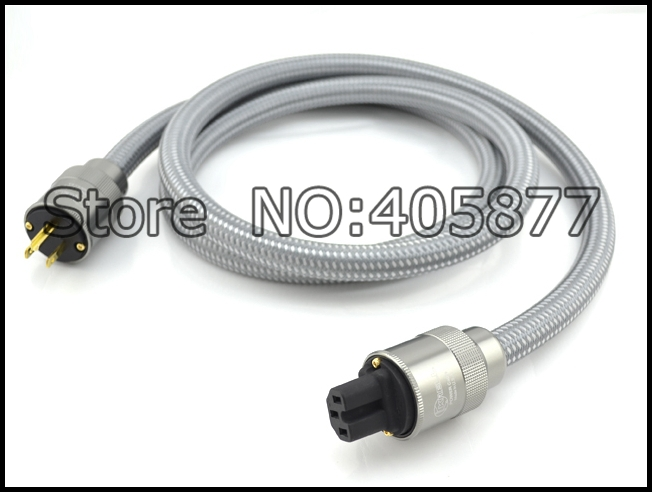 Viborg CRYO-156 power cable HIFI US Version AC Audiophile Power cable 2.0m  free shipping viborg krell cryo 196 audio power cable us ac power cord with us version gold plated plugs