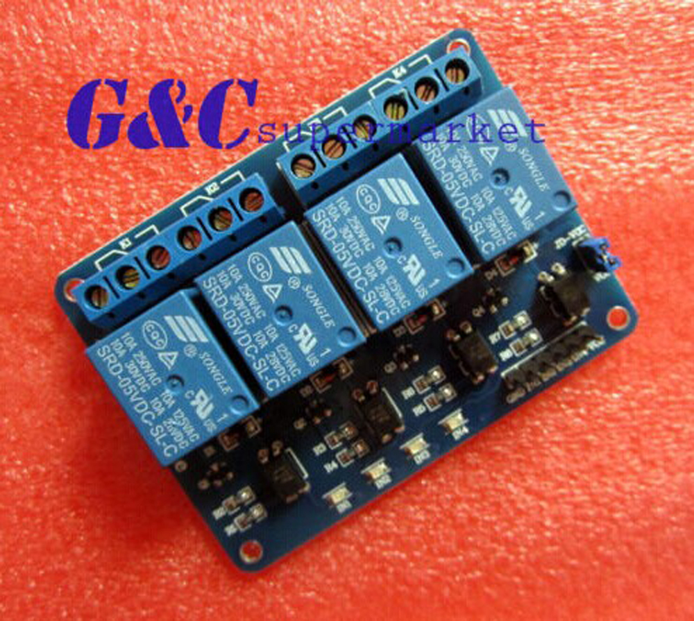 5V 4--Channel Relay Module for PIC ARM DSP AVR Electronic