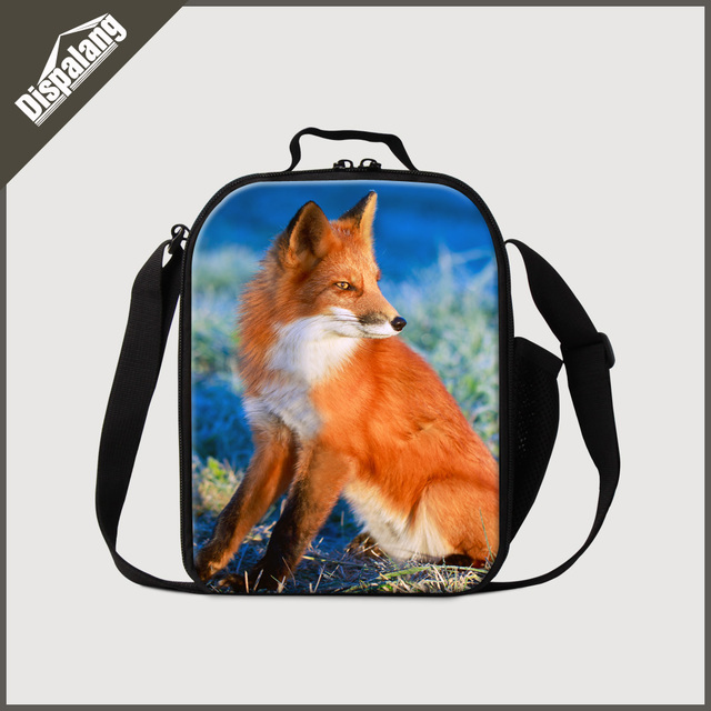 Dispalang cool animals lunch box for kids 3D fox print lunch cooler bags girls food container thermal lunch bag picnic food bags