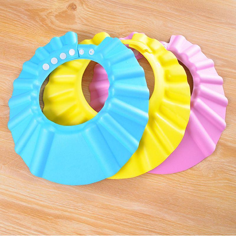 Children Baby Kids Waterproof Bathing Cap Shampoo Shower Protect Hat Soft Adjustable Visor Hat For Toddler, Baby, Kids, Children