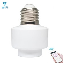 Buy LED Lamp Head Remote Control Wifi Wireless Remote Switch Timing Smart Bulb Socket Screw Bulb Cap Bracket Socket E27 E26 Home directly from merchant!