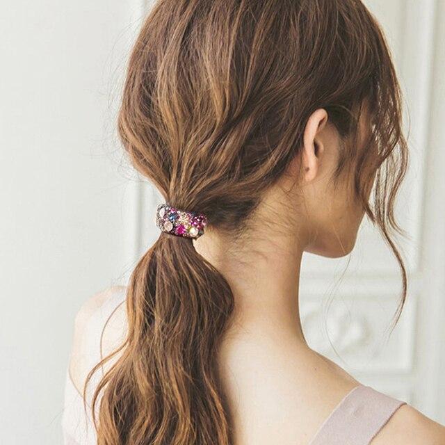 Фото хрустальные заколки для волос chimera элегантные акриловые круглые