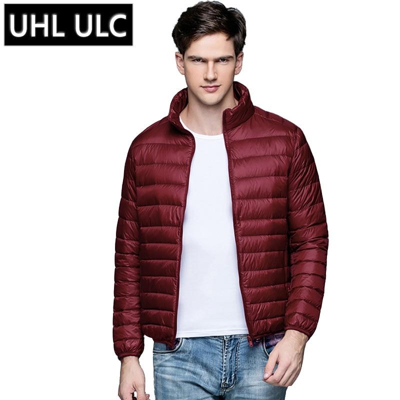 Men's Winter   Down   Jacket Adult Vertical Collar Winter   Coat   Men's Clothes Duck   Down   Jacket Ultra Light   Down     Coat   Plus Size B-9597