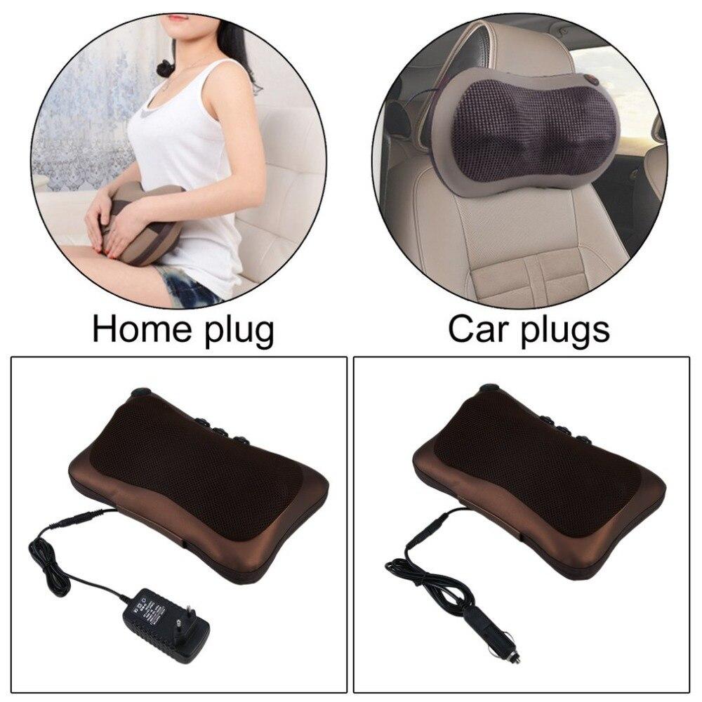 Neck Massager Car Home Shiatsu Massage Neck Relaxation Back Waist Body Electric Massage Deep-Kneading Pillow Cushion 2018 Sell
