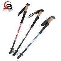 Telescopic Cork Handle Trekking Poles Walking Stick 7075 Aluminum Alloy Outdoor Climbing Walking Cane Hiking Stick Accessories