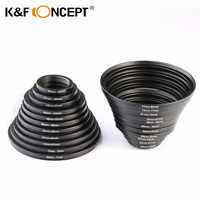 K&F CONCEPT 22pcs Lens Filter Metal Step Up Step Down Ring Adapter 26 ~ 82mm 82-26mm For Canon Nikon DSLR Camera