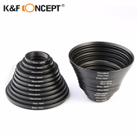 K&F CONCEPT 22pcs Lens Filter Metal Step Up Step Down Ring Adapter 26 ~ 82mm 82 26mm For Canon Nikon DSLR Camera