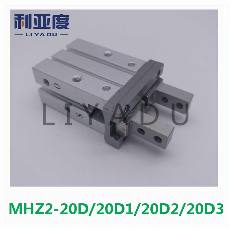 MHZ2-20D MHZ2-20D1 MHZ2-20D2 MHZ2-20D3 pneumatic finger cylinder parallel open air claw 20MM Bore SMC Type mhz2 20d parallel finger cylinder manipulator smc type pneumatic finger cylinder