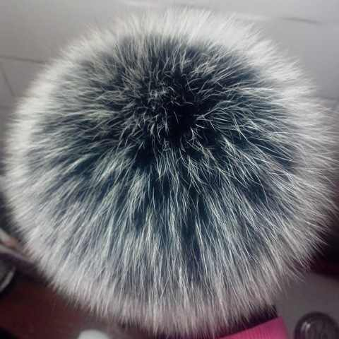DIY 100% Natural Fox Fur Fluffy Pompon for Hats Real Fox Fur Big Ball Pom Pom for Caps Hats Skullies 12-13cm
