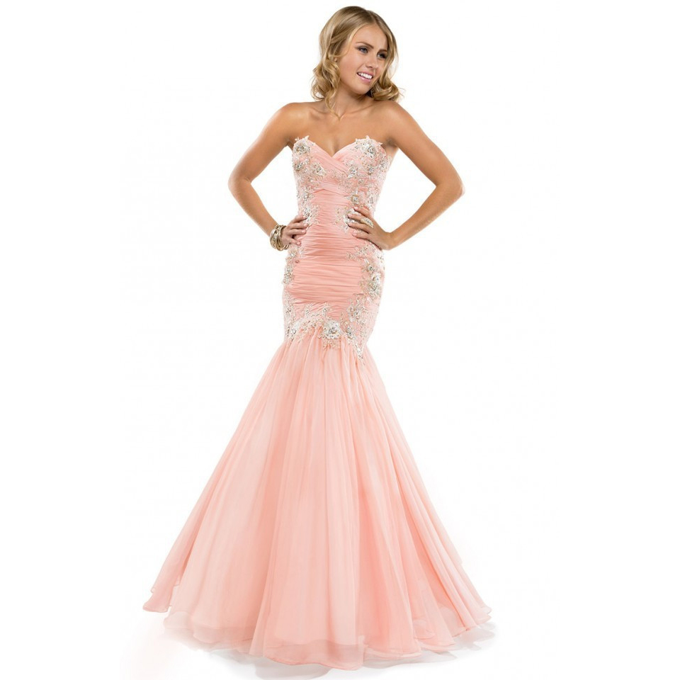 Online Buy Wholesale light pink mermaid prom dress from China ...