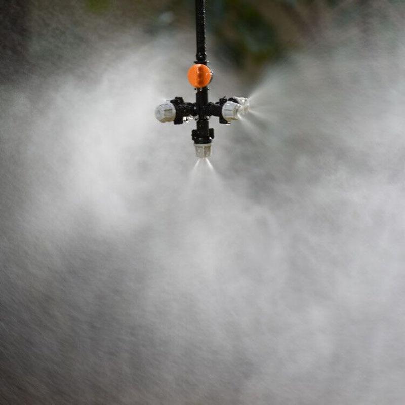 HTB1ySELX2fsK1RjSszbq6AqBXXaa Hanging anti drip misting nozzle cross Atomizing nozzle fog WATER SPRAY To greenhouse Drip irrigation 1set