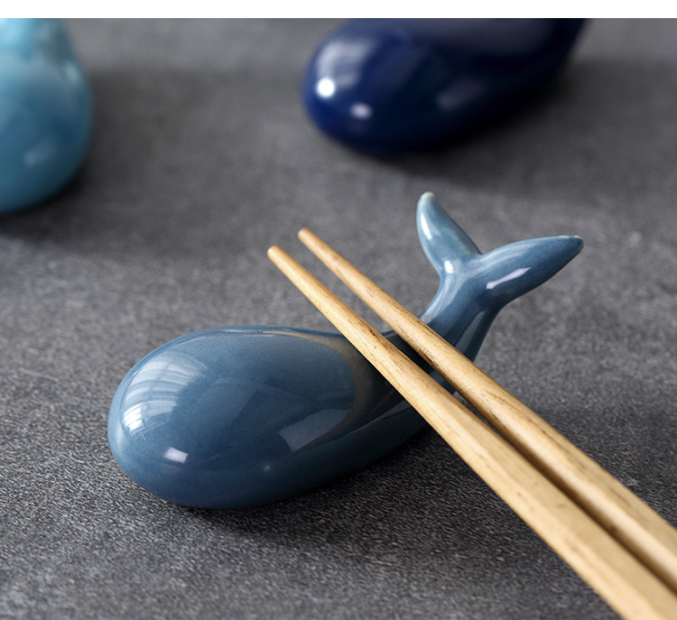 US $7 82 21% OFF|Chopsticks holder table decoration Chinese restaurant  whale chopstick stand fish tank small ornaments Japanese restaurant  supply-in