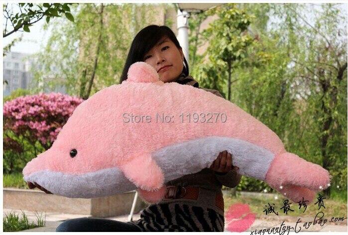 Чучело 80 см плюшевый игрушечный Дельфин Мягкая кукла подушка подарок w3183