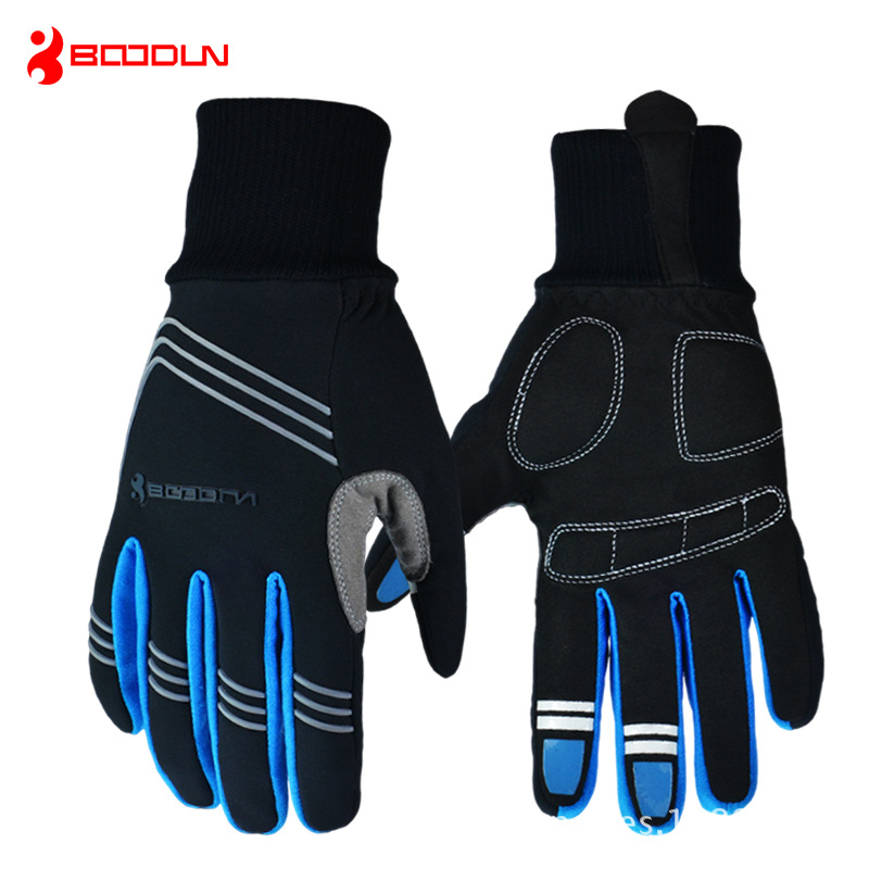 Winter Touch Screen Cycling font b Gloves b font Elastic Cuff Thermal luvas ciclismo Full Finger