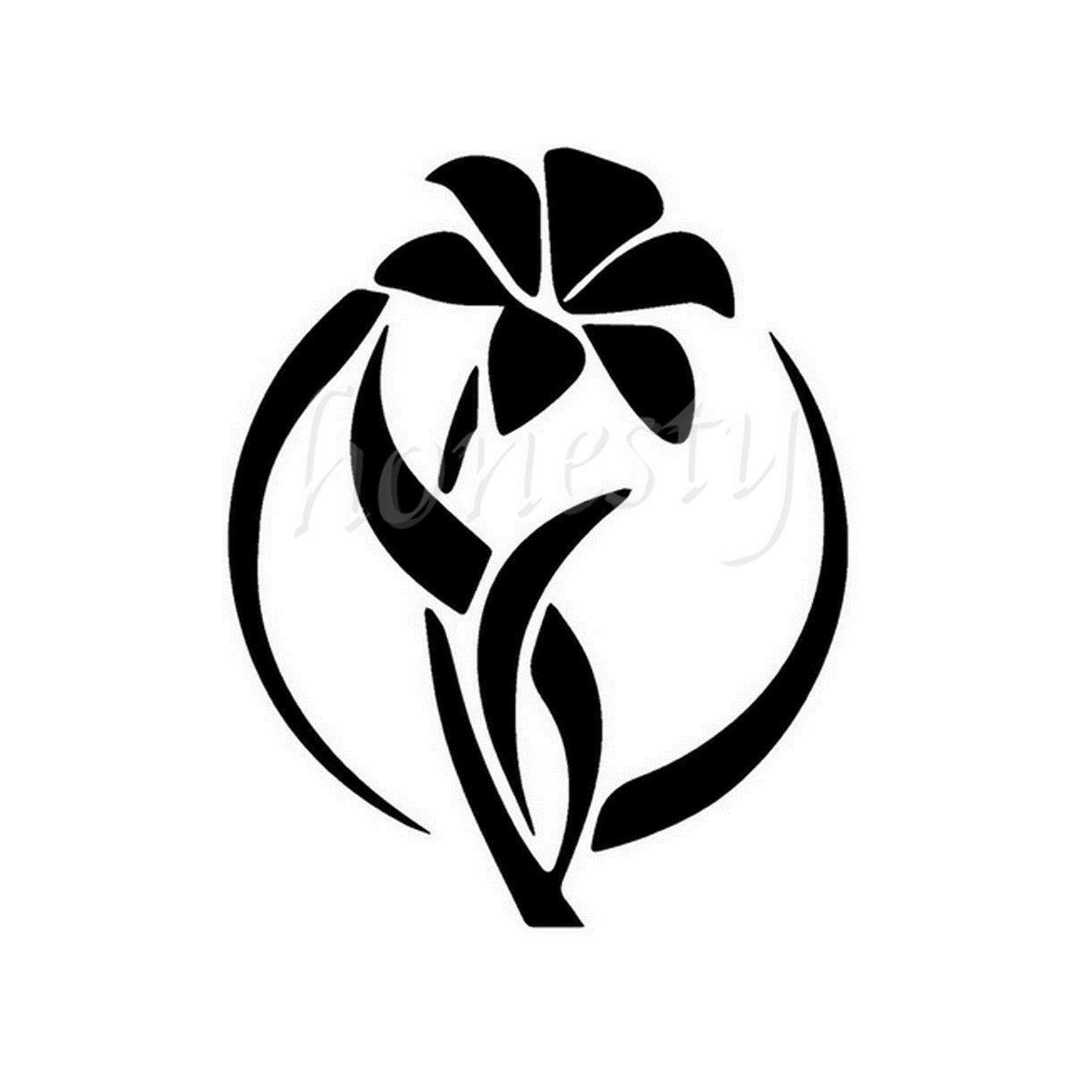 Charming lily flower wall home glass window door car sticker laptop charming lily flower wall home glass window door car sticker laptop auto truck black vinyl decal sticker decor 114cmx143cm in car stickers from izmirmasajfo