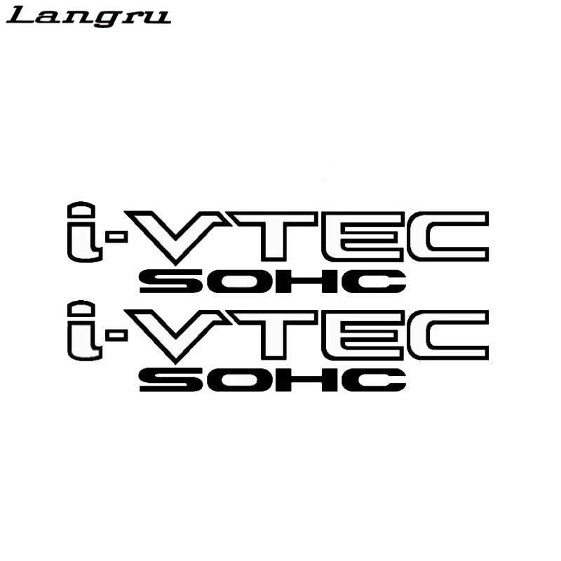 Langru Personality I-vtec Sohc Ivtec Window Decal Truck Vinyl  Sticker Car Accessories JDM