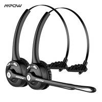 Mpow Pro 2 Pack Professional Over The Head Driver Wireless Bluetooth Headphone Microphone Noise Cancelling Headphones