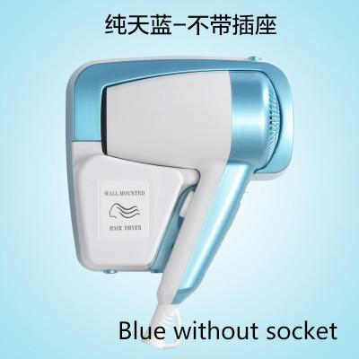 DMWD мощный электрический фен для волос, подвесное настенное крепление для ванной комнаты отеля, Быстросохнущий Горячий Воздуходувка холодного воздуха с розеткой, Фен - Цвет: Blue without socket