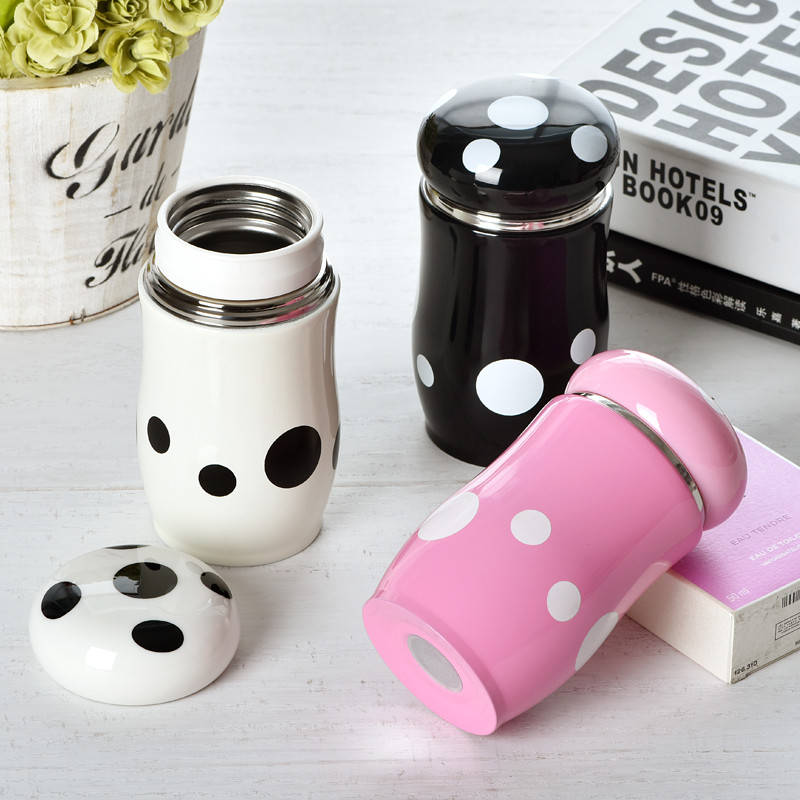 Cup 260ml Cute Stainless Buy Vacuum Steel Mushroom Creative Spots pLqzVMSUG