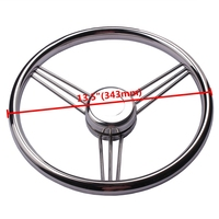 13 1 2 Boat Accessories Marine Stainless Steel Steering Wheel 9 Spokes Marine Yacht Marine Hardware