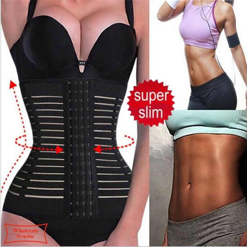 2020 Sexy Women's Waist Trainer Shapers Waist Control Corset Slimming Belt Shaper Body Shaper Modeling Strap Belt Shapewear 5XL