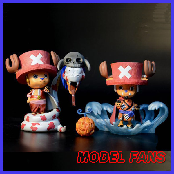 MODEL FANS IN-STOCK 2pcs/set 10cm one piece Chopper cos Boa Hancock Jinbe GK resin made for Collection model fans in stock the same paragraph tsume 50cm fist of the north star lao gk resin made for collection