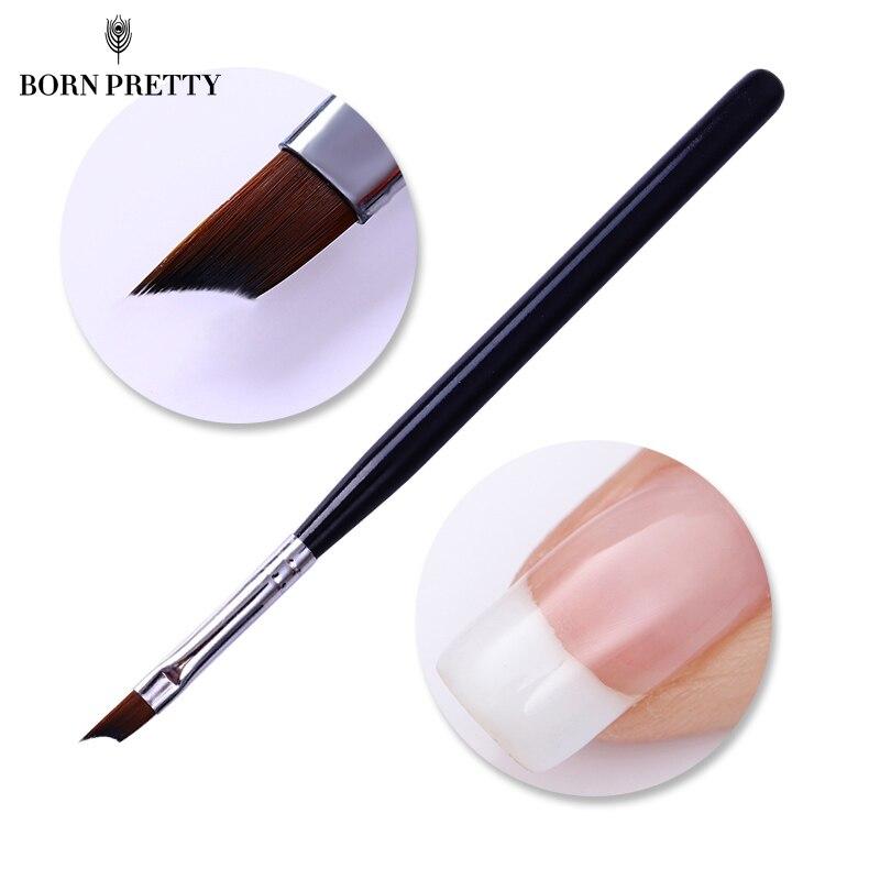 French Tip Nail Brush Acrylic UV Gel Drawing Painting Pen Black Handle Design Manicure Nail Art Tool free shipping w9864g6jh 6 sop 10pcs lot ic