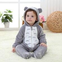 Baby Totoro Kigurumi Pajamas Clothing Newborn Infant Rompers Animal Onesie  Cosplay Costume Outfit Hooded Jumpsuit Winter ee8dbf54c