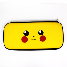 3 in 1 Nintend Switch Accessories Travel Carrying pikaqu bag & Glass Film Sticker for Nintendo Caps NS shell