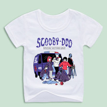 New Arrival,Cartoon Scooby Doo SVU T-shirts For Kid,Children Anime T-shirts Baby Clothing Boy and Girl Funny Shirt