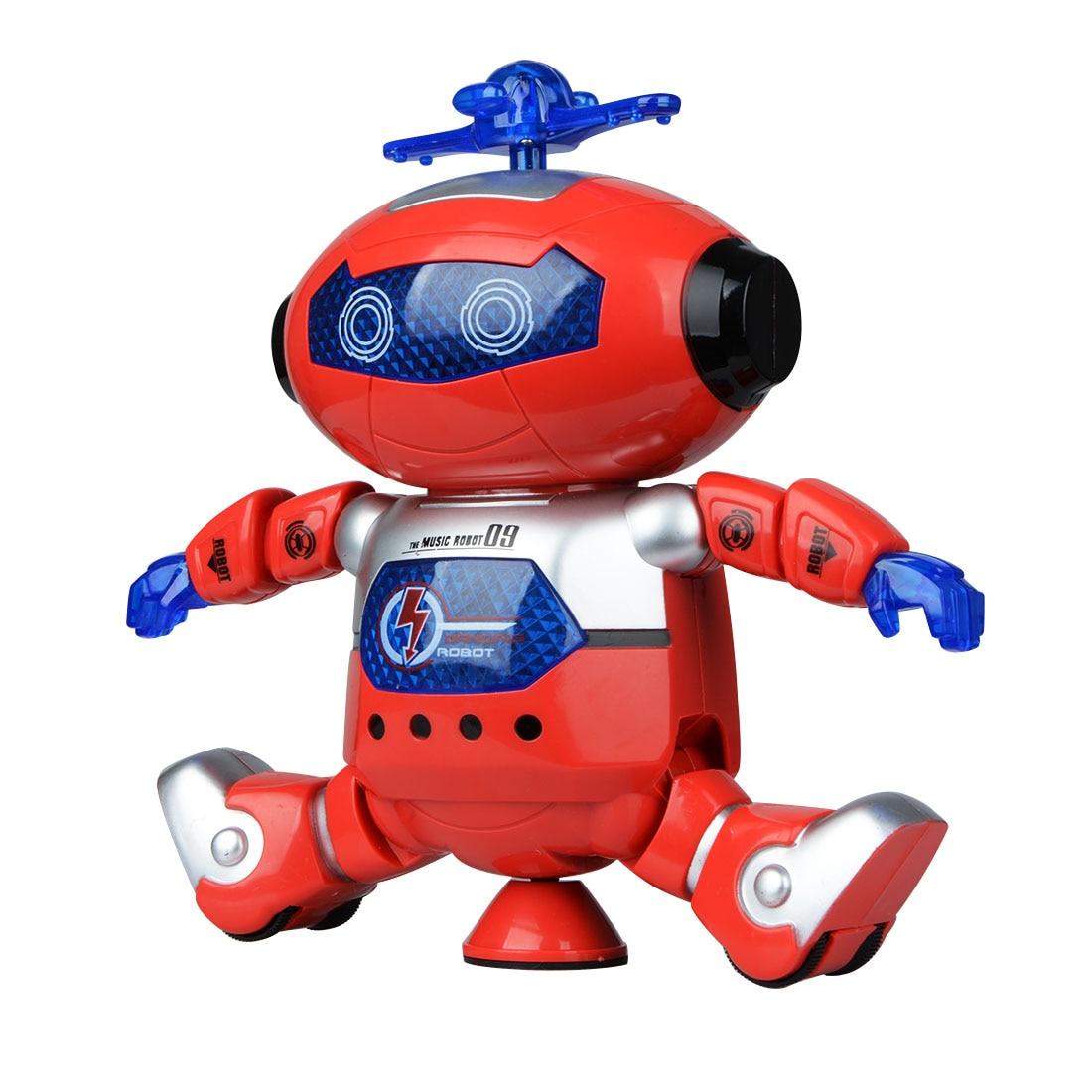 1 Pcs Dance Robot Toys Action Figure Music Light Dancing