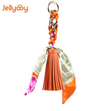 Jellyooy Beachkins PU Leather Twilly Tassels Bag Charms Women's Bag Fitting Creative Retro Style Fashion All Match Bag Accessory