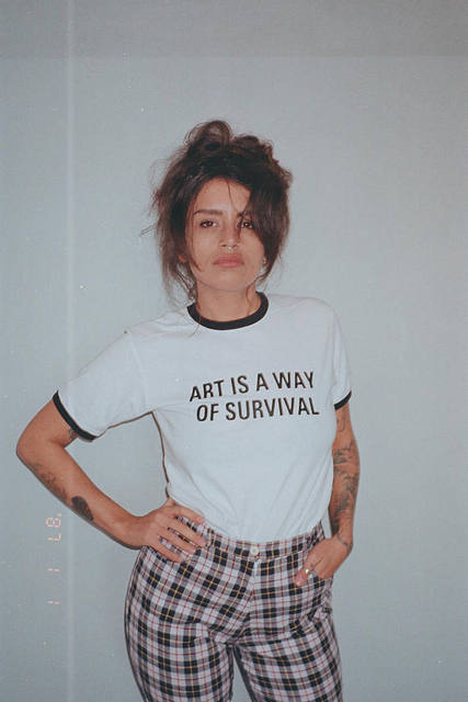 Art Is a Way Of Survival Ringer Shirt Feminist t shirt fashion clothes women funny tumblr graphic tees tshirt tops