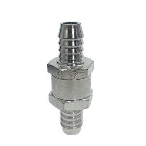 Image 2 - Válvulas de 1 vía, 6/8/10/ 12mm, 4 tamaños, válvula de retención sin retorno de combustible de aleación de aluminio, ajuste unidireccional para carburador