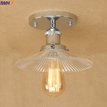 IWHD Glass Lampshade LED Ceiling Lights Fixtures Edison Plafon Industrial Ceiling Light Vintage Home Lighting Lampara Techo iron wrount edison vintage ceiling lights fixtures home lighting edison led ceiling lamp industrial plafon lampara techo