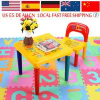 1PC premium Plastic DIY Table and Chair Set With colorful alphabet study table Activity Fun Child Toy