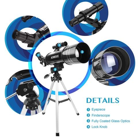 telescopio binoculos