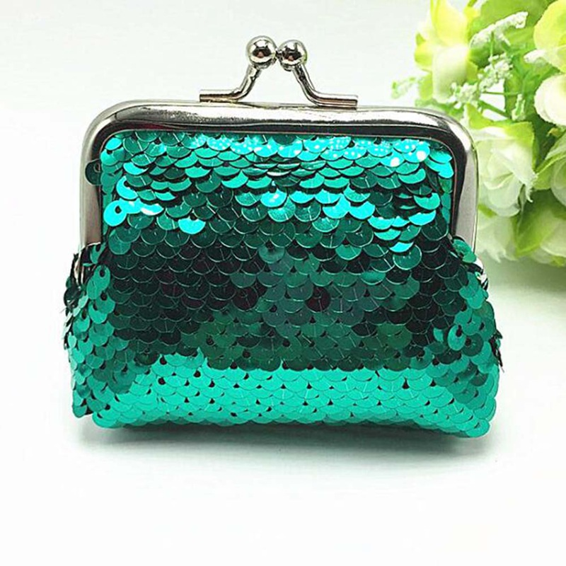 2018 Fashion Small Sequin Coin Purse Womens Bag Small Sequin Wallet Card Holder Clutch Handbag Bag For Lady Random Color hcandice womens wallet card holder coin purse clutch bag handbag best gift wholesale jan29