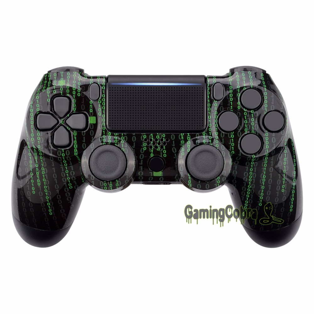 Matrix Code Hydro Dipped Faceplate Front Housing <font><b>Shell</b></font> for PS4 Slim Pro Controller (CUH-ZCT2 <font><b>JDM</b></font>-040 <font><b>JDM</b></font>-050 <font><b>JDM</b></font>-<font><b>055</b></font>) - SP4FT33 image
