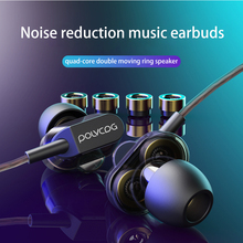 Double Dynamic In-ear Earphone Stereo Microphone Noise Reduction Music Earbuds Game Sport Headset Wired Bass S7